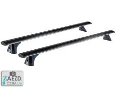 Багажник Daihatsu Terios 2 06-18 с гладкой крышей - Cruz T Airo Black (алюминиевый)