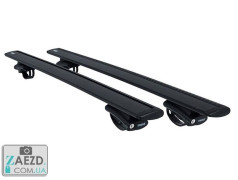 Багажник Pontiac Vibe 03-08 с просветными рейлингами - Thule-775 WingBar Black (алюминиевый)