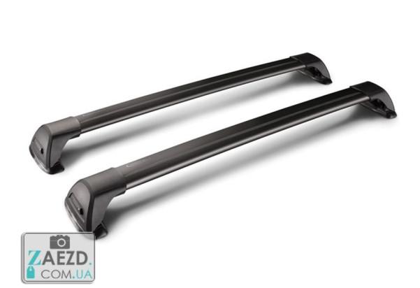 Багажник GMC Envoy 02-09 с Т-профилем - Whispbar FlushBar FP Black (алюминиевый невыступающий