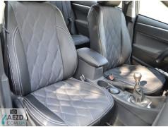 Авточехлы комбинированные Suzuki Swift 4 04-10 (Союз Авто - Ромб)