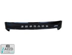 Дефлектор капота Geely Emgrand X7 12-16 короткий (Vip Tuning)