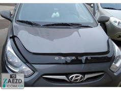 Дефлектор капота Hyundai Accent 4 11-17 (Vip Tuning)