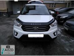 Дефлектор капота Hyundai Creta 17- (Vip Tuning)