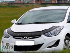 Дефлектор капота Hyundai Elantra 5 10-16 (Vip Tuning)