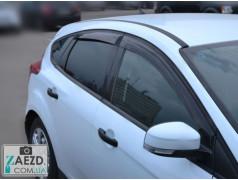 Дефлекторы окон Ford Focus 3 11-18 хэтчбек, 5 дверей (Cobra Tuning)
