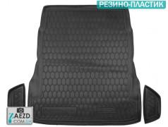 Коврик в багажник Mercedes S W222 13- без регулировки сидений, резино-пластик (Avto Gumm)