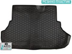 Коврик в багажник Mitsubishi Lancer X 10 07-17, резино-пластик (Avto Gumm)