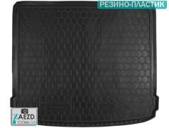 Коврик в багажник Nissan X-Trail 07-14 без органайзера, резино-пластик (Avto Gumm)
