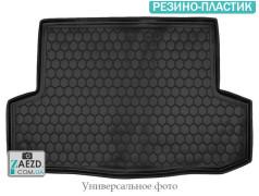 Коврик в багажник Nissan X-Trail 07-14 с органайзером, резино-пластик (Avto Gumm)