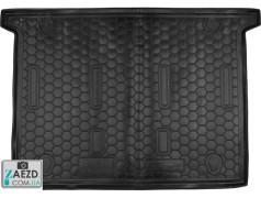 Коврик в багажник Fiat Doblo 2 10- 7 мест, короткая база, резиновый (Avto Gumm)