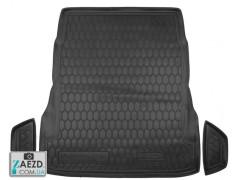 Коврик в багажник Mercedes S W222 13- без регулировки сидений, резиновый (Avto Gumm)