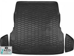 Коврик в багажник Mercedes S W222 13- с регулировкой сидений, резиновый (Avto Gumm)