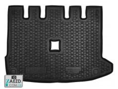 Коврик в багажник Dacia Lodgy 18- раздельное сиденье, резиновый (Avto Gumm)