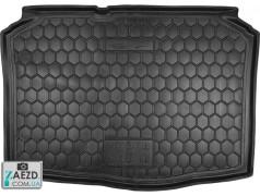 Коврик в багажник Skoda Fabia 2 07-15 хетчбэк, резиновый (Avto Gumm)