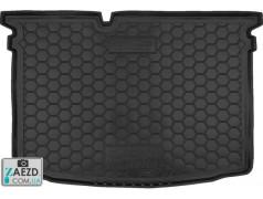 Коврик в багажник Skoda Fabia 3 14- хетчбек, резиновый (Avto Gumm)