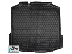 Коврик в багажник Skoda Rapid 11- лифтбэк, резиновый (Avto Gumm)