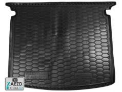 Коврик в багажник VW Caddy Life 3 04-16 с обшивкой багажника, резиновый (Avto Gumm)