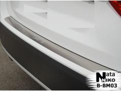 Накладки на бампер BMW X1 09-12 (NataNiko - Premium)